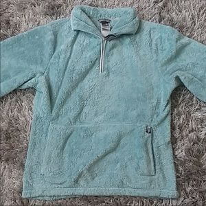 Blue north face 1/4 zip pullover